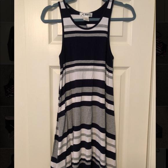 Say What? Dresses & Skirts - Striped tank dress